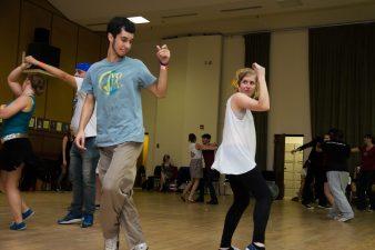 FSU swing dance club members caught in a teaching moment.