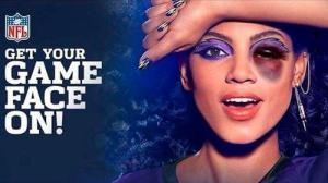 """Cover Girl's """"Game Face"""" make up for the Baltimore Ravens, Ray Rice's team."""