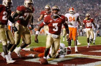 Celebrating a Florida State touchdown.
