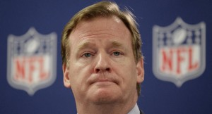 NFL Commissioner Roger Goodell during a news conference in Atlanta May 2012