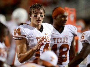 David Ash playing with his college team, the Texas Longhorns.