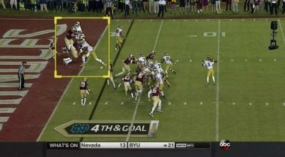 Highlight of the controversial play. Photo SB Nation