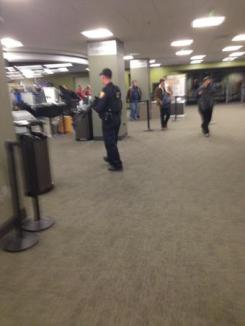 Police sweep Strozier library.