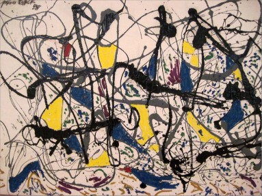 This may or may not be a sort of representation of the work you've just done. Except that this is by Jackson Pollock, and he's really famous.